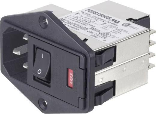 TE Connectivity PE0S0DS3A=C1254 Netfilter Met schakelaar, Met 2 zekeringen, Met IEC-connector 250 V/AC 3 A 1 stuks