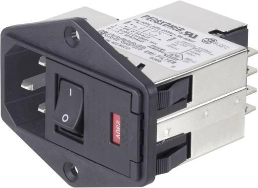TE Connectivity PS0S0DS6B=C1185 Netfilter Met schakelaar, Met 2 zekeringen, Met IEC-connector 250 V/AC 6 A 1 stuks