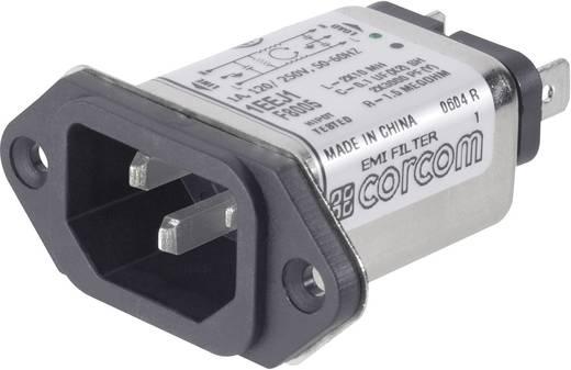 TE Connectivity 6609006-1 Netfilter Met IEC-connector 250 V/AC 1 A 10 mH 1 stuks