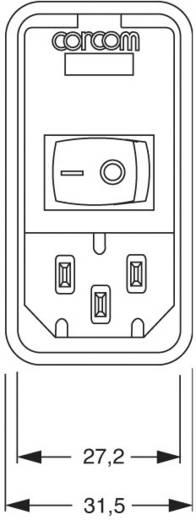 TE Connectivity PS0S0DS3A=C1182 Netfilter Met schakelaar, Met 2 zekeringen, Met IEC-connector 250 V/AC 3 A 1 stuks