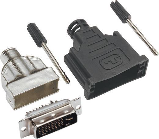 BKL Electronic 908002 DVI-connector Stekker, recht Aantal polen: 29 Zilver 1 stuks