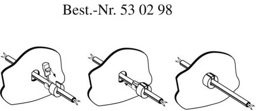 PB Fastener 300 1201 Kabeldoorvoer met trekontlasting Voor kabel-Ø Ronde kabel 8,3 x 9,1 mm Wit