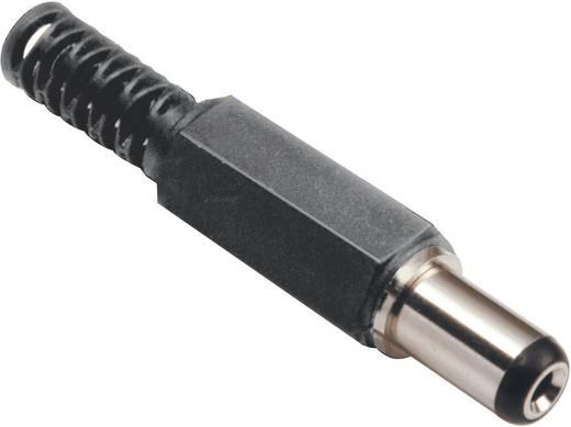 BKL Electronic 72602 Laagspannings-connector Stekker, recht 5 mm 2.1 mm 1 stuks