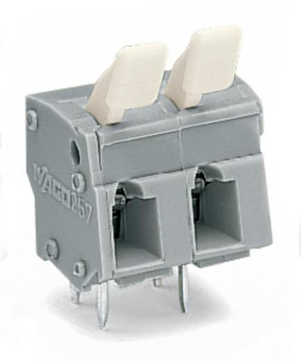 Veerkachtklemblok 2.50 mm² Aantal polen 2 MOD PC STRIP-2 POS W/FINGER BUTTON WAGO Grijs 280 stuks
