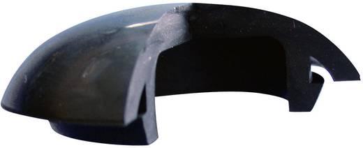 Blindstoppen Silicone, Rubber Zwart Richco LTP-1 1 stuks