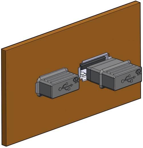Afdekkap USB-A Silicone, Rubber Zwart Richco CP-USB-A 1 stuks