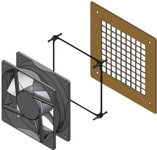 Ventilator bevestiging EPDM, Rubber Zwart Richco FMG-2 1 stuks