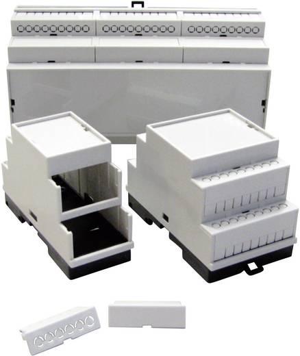 P/N 5200100210 DIN-rail-behuizing 210 x 86 x 60 Kunststof Grijs (RAL 7035) 1 stuks