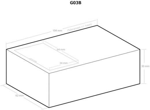 Kemo G03B Universele behuizing 104 x 62 x 30 Kunststof Zwart 1 stuks