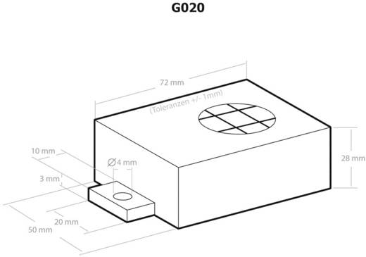 Kemo G020 Universele behuizing 72 x 50 x 28 Kunststof Zwart 1 stuks