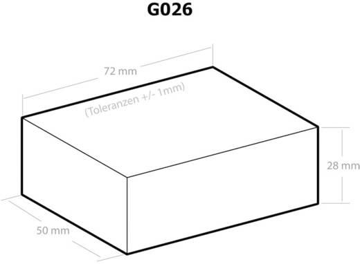 Kemo G026 Universele behuizing 72 x 50 x 28 Kunststof Zwart 1 stuks