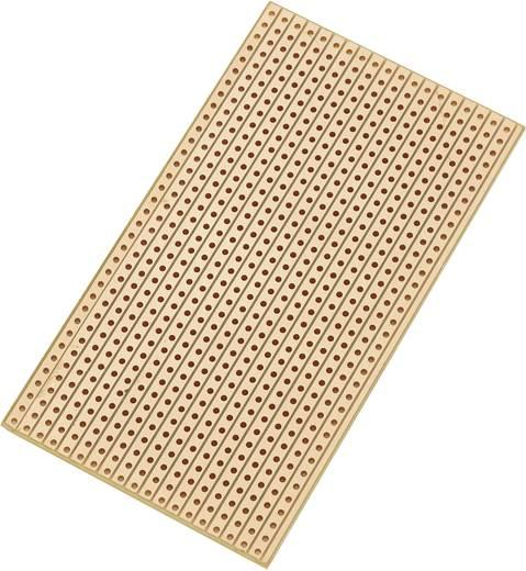 Conrad Components SU527629 Printplaat Hardpapier (l x b) 90 mm x 50 mm 35 µm Rastermaat 2.54 mm Inhoud 1 stuks