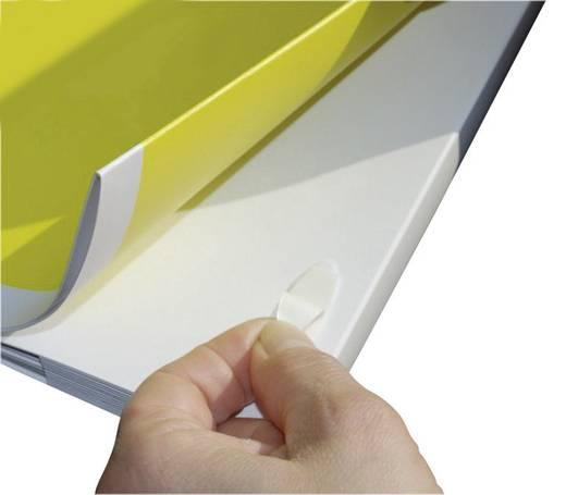 Fastech 686-010-Bag Klittenband ellips om vast te plakken Haak- en lusdeel (l x b x h) 35 x 12 x 0.8 mm Wit 12 stuks