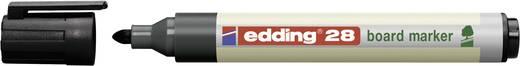 Edding 4-28-1-1001 Boardmarker Zwart Ronde vorm 1.5 - 3 mm 1 stuks