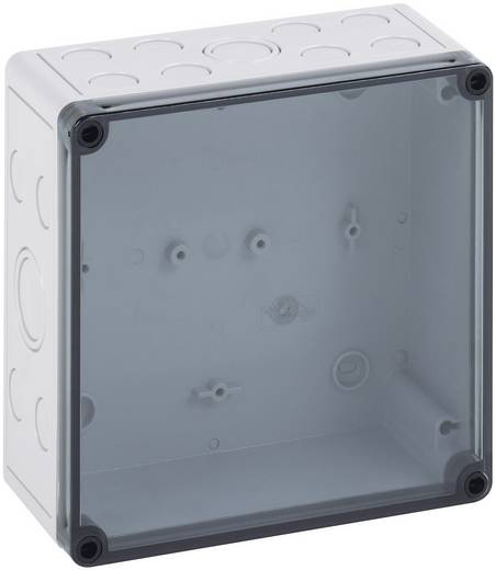 Installatiebehuizing 110 x 110 x 66 Polycarbonaat, Polystereen (EPS) Lichtgrijs (RAL 7035) Spelsberg TK PS 1111-7-tm 1