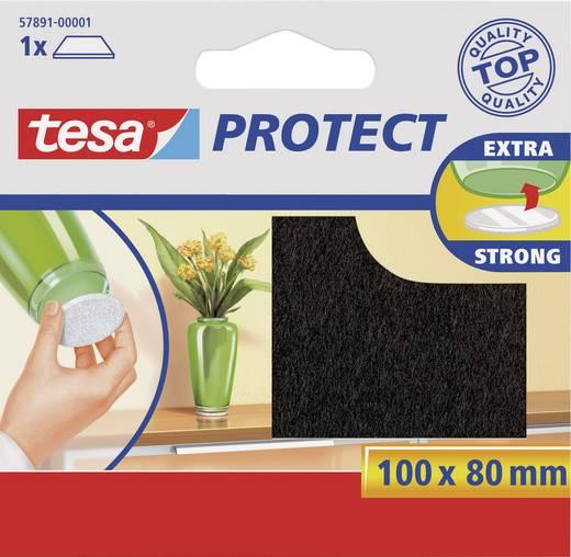 TESA 57891-00001-00 Viltdoppen Zelfklevend Bruin (l x b) 100 mm x 80 mm 1 stuks