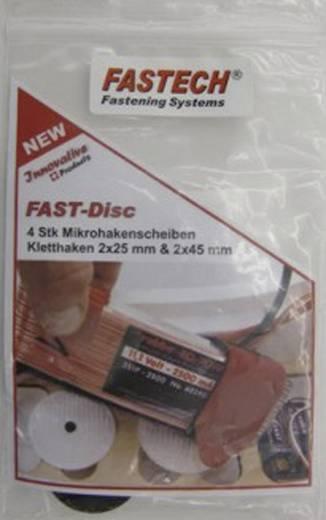 Fastech 703-330-Bag Klittenband ellips om te schroeven Haak- en lusdeel Zwart 4 stuks