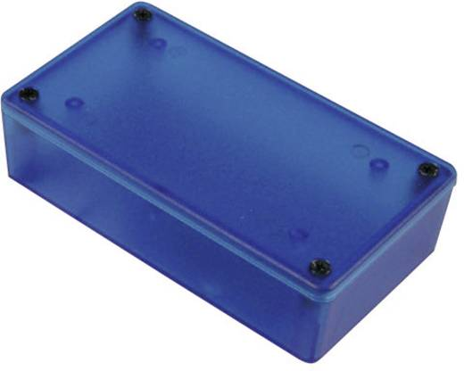Hammond Electronics 1591XXSTBU Universele behuizing 110 x 82 x 44 ABS Blauw (transparant) 1 stuks