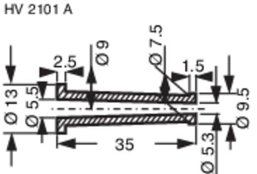 Knikbeschermingsmof Klem-Ø (max.) 5.3 mm PVC Zwart HellermannTyton HV2101A-PVC-BK-M1 1 stuks