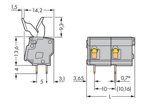 Veerkachtklemblok 2.50 mm² Aantal polen 2 257-602/333-000 WAGO Grijs 220 stuks
