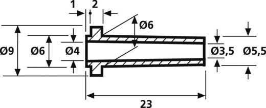 Knikbeschermingsmof Klem-Ø (max.) 3.5 mm PVC Zwart HellermannTyton HV2213-PVC-BK-N1 1 stuks