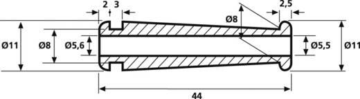 Knikbeschermingsmof Klem-Ø (max.) 5.5 mm PVC Zwart HellermannTyton HV2228-PVC-BK-D1 1 stuks