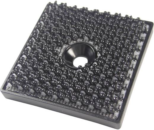 Binder Band 76768 Klittenband vierkant om te schroeven Haakdeel (l x b) 32 mm x 32 mm Zwart 1 stuks