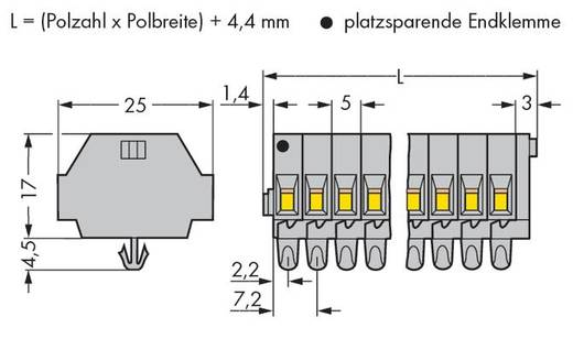 Klemstrook 5 mm Veerklem Toewijzing: L Grijs WAGO 260-158 50 stuks