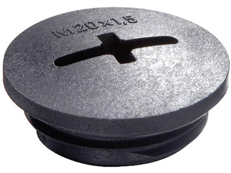 Blindstop M63 Polyamide Zwart (RAL 9005) Wiska EVSG M63 RAL 9005 1 stuks