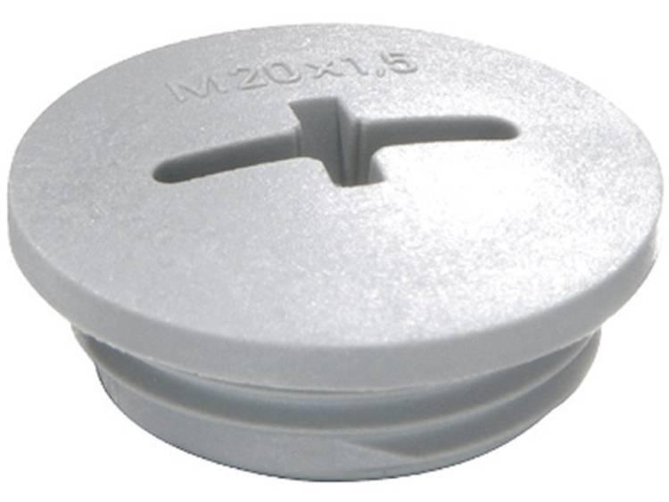 Blindstop M12 Polyamide Zilver-grijs (RAL 7001) Wiska EVSG M12 RAL 7001 1 stuks