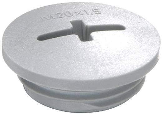 Blindstop M63 Polyamide Zilver-grijs (RAL 7001) Wiska EVSG M63 RAL 7001 1 stuks