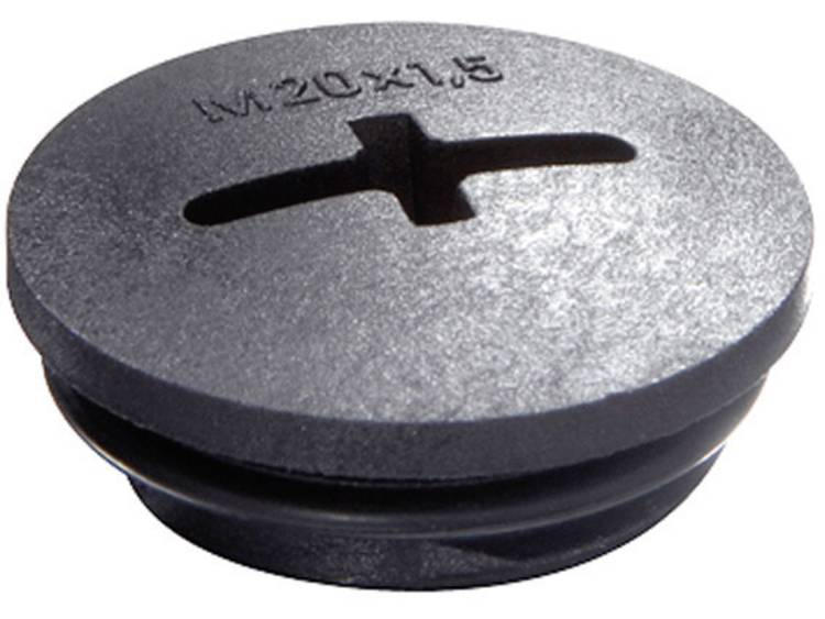 Blindstop M20 Polyamide Zwart (RAL 9005) Wiska EVSG-ORD M20 RAL 9005 1 stuks