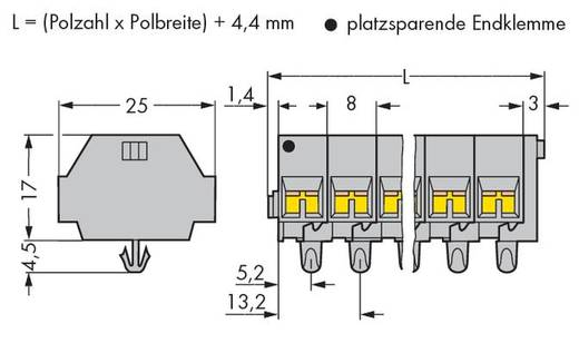 Klemstrook 8 mm Veerklem Toewijzing: L Grijs WAGO 260-252 100 stuks
