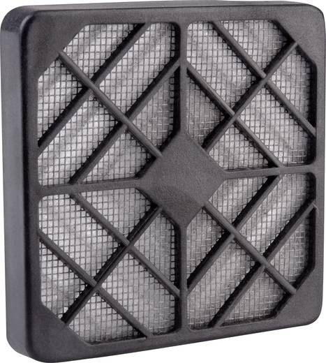 Wallair Kunststof ventilatorroosters met filter Zwart