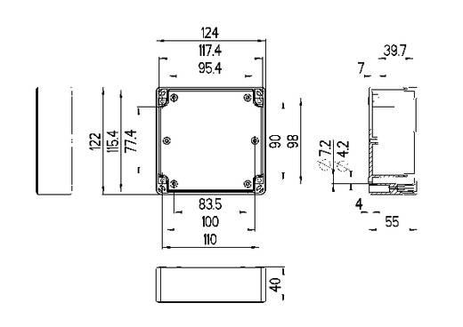 Installatiebehuizing 124 x 122 x 55 Polycarbonaat Lichtgrijs (RAL 7035) Spelsberg TG PC 1212-6-to 1 stuks