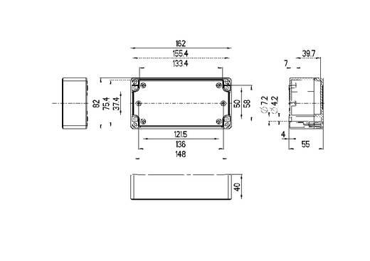 Spelsberg TG PC 1608-6-o Installatiebehuizing 162 x 82 x 55 Polycarbonaat Lichtgrijs (RAL 7035) 1 stuks