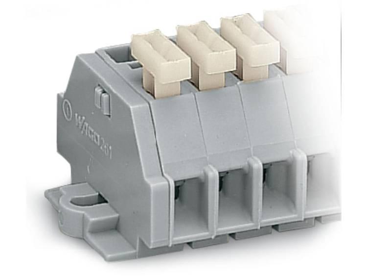 WAGO 261-102/331-000 Klemstrook 6 mm Veerklem Toewijzing: L Grijs 100 stuks
