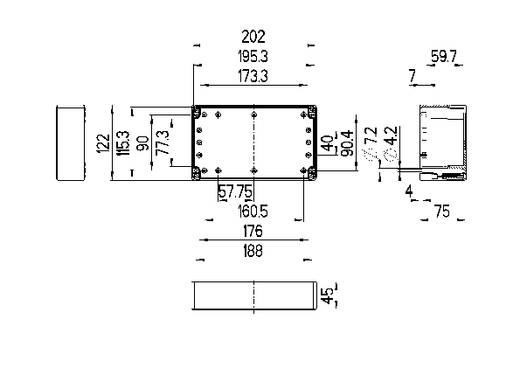 Installatiebehuizing 202 x 122 x 75 ABS Lichtgrijs (RAL 7035) Spelsberg TG ABS 2012-8-to 1 stuks