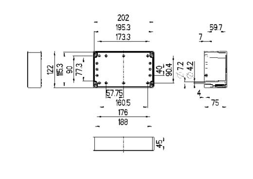 Spelsberg TG PC 2012-8-to Installatiebehuizing 202 x 122 x 75 Polycarbonaat Lichtgrijs (RAL 7035) 1 stuks