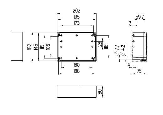 Installatiebehuizing 202 x 152 x 90 Polycarbonaat Lichtgrijs (RAL 7035) Spelsberg TG PC 2015-9-to 1 stuks