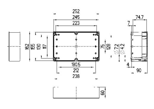 Spelsberg TG ABS 2516-9-to Installatiebehuizing 252 x 162 x 90 ABS Lichtgrijs (RAL 7035) 1 stuks