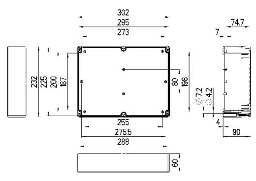 Spelsberg TG PC 3023-9-o Installatiebehuizing 302 x 232 x 90 Polycarbonaat Lichtgrijs (RAL 7035) 1 stuks