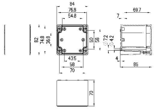 Spelsberg TG ABS 88-9-o Installatiebehuizing 84 x 82 x 85 ABS Lichtgrijs (RAL 7035) 1 stuks