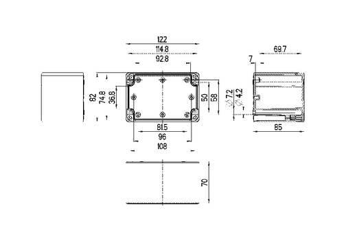 Spelsberg TG PC 1208-9-o Installatiebehuizing 122 x 82 x 85 Polycarbonaat Lichtgrijs (RAL 7035) 1 stuks