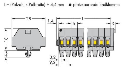 Klemstrook 6 mm Veerklem Toewijzing: L Grijs WAGO 261-157 50 stuks