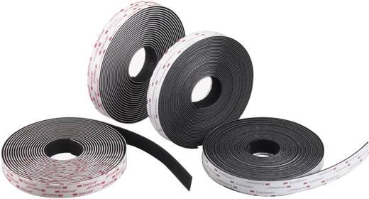 3M Klittenband strips om vast te plakken Paddenstoel (l x b) 1000 mm x 25 mm Zwart Per meter