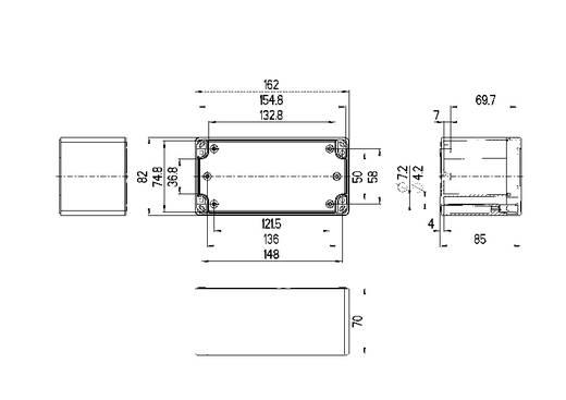 Spelsberg TG PC 1608-9-o Installatiebehuizing 162 x 82 x 85 Polycarbonaat Lichtgrijs (RAL 7035) 1 stuks