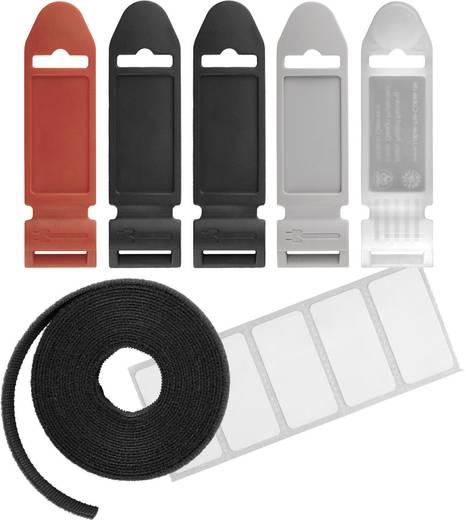 LTC Klittenband op rol, 3 meter met labels