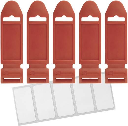 Label the Cable 2721 Klittenband-markeringsveld om te markeren Rood 5 stuks