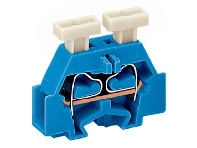 WAGO 261-304/341-000 Aderklem 6 mm Veerklem Toewijzing: N Blauw 200 stuks